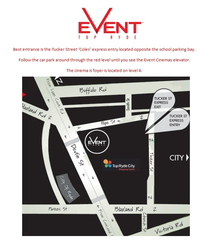 Event Top Ryde Parking Map - Incl Instructions